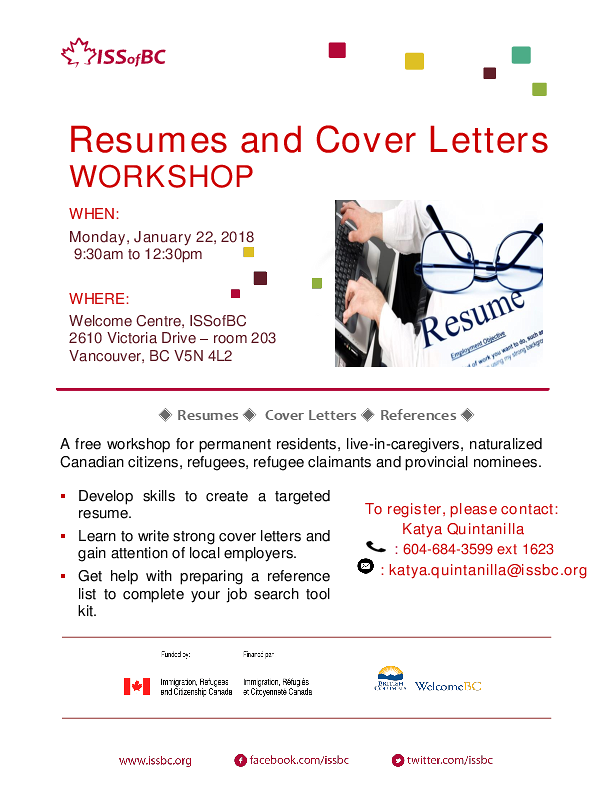 Resumes And Cover Letters Workshop Events Vancouver Public Library